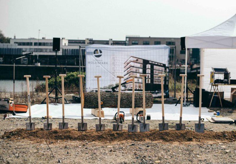 Spatenstich für das Lofthaus Molenpark im Offenbacher Hafen