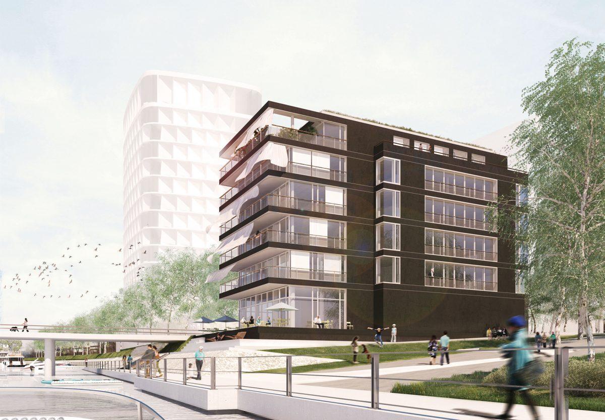 """Loftgebäude """"Molenpark"""" entsteht im Offenbacher Hafen"""
