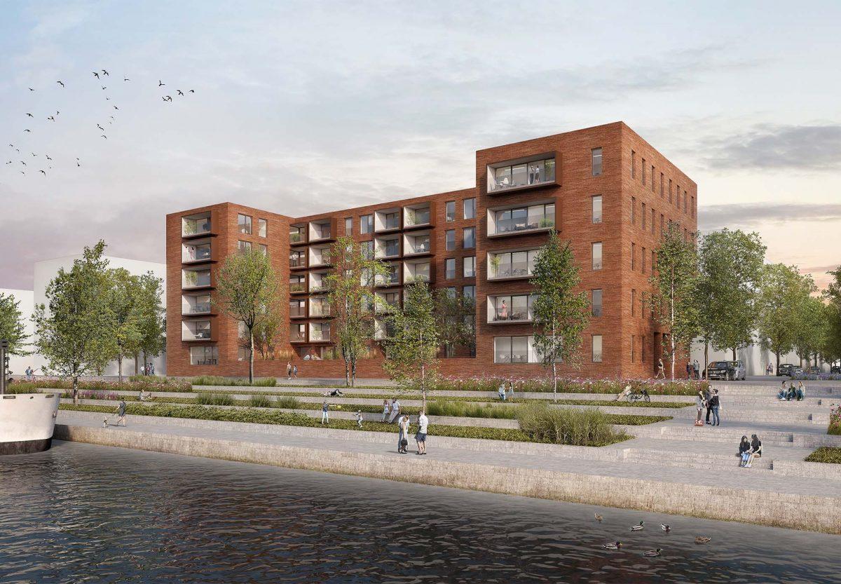 Zweiter Platz für Wohn- und Geschäftshaus Baufeld Rheinwiesen in Mainz